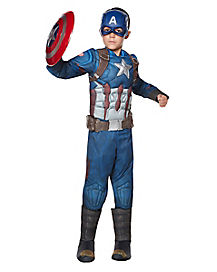 Kids Captain America Costume Deluxe Costume - Captain America: Civil War