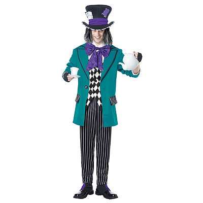 Vintage Men's Costumes – 1920s, 1930s, 1940s, 1950s, 1960s Adult Mad as a Hatter Costume $69.99 AT vintagedancer.com