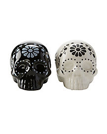 Sugar Skull Salt and Pepper Shakers