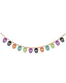 Multicolor Skull Garland