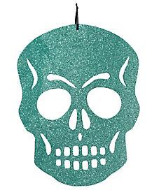 Teal Skull Cutout
