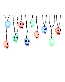 Multicolor Skull String Lights