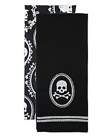 Skull Cameo Dish Towel Set