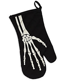 Skeleton Oven Mitt
