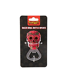 Pink and Green Sugar Skull Bottle Opener