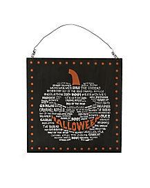 Pumpkin Sign - Decorations