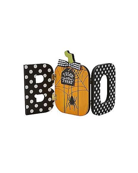 Spirit Halloween Wall Decor : Boo wooden sign decorations spirithalloween