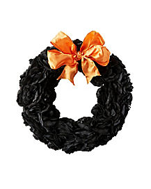 Black and Orange Wreath - Decorations