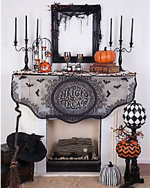 Trick or Treat Mantel Scarf - Decorations