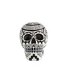 Black and White Tribal Skull Figurine - Decorations