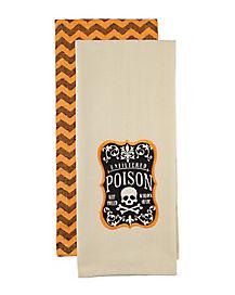 Poison Label Dish Towel Set