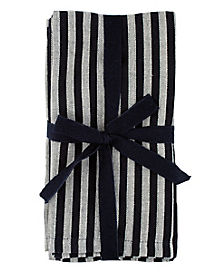 Black Stripe Napkins 4 Pack