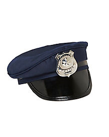 Kids Blue Police Hat