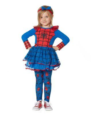 Toddler Spider Girl Dress Set Marvel Comics