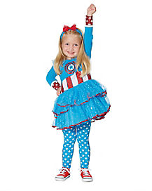 Toddler Captain America Dress Set - Marvel Comics