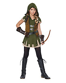 Kids Miss Robin Hood Costume