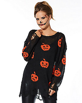 Adult Pumpkin Sweater Costume