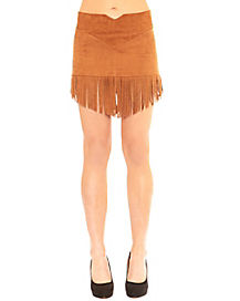 Adult Faux Suede Fringe Skirt