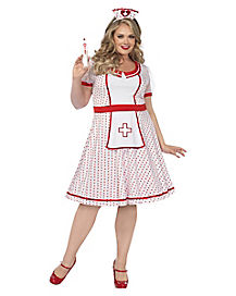 Adult Sweet Nurse Plus Size Costume