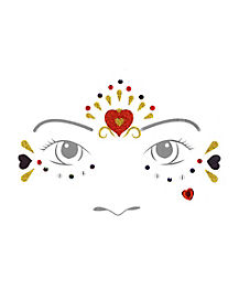 Kids Queen of Hearts Face Decal