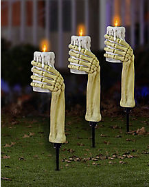 Light Up Skeleton Hands Pathway Markers 3 Pack - Decorations