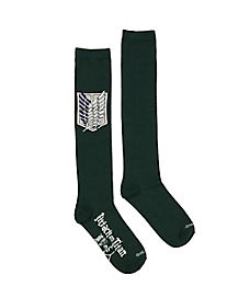 Green Survey Corps Socks - Attack on Titan