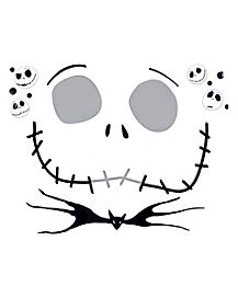 Kids Jack Skellington Face Decal - Nightmare Before Christmas