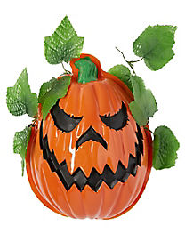 Evil Pumpkin Porch Light Cover - Decorations