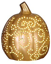 Light Up Copper Pumpkin - Decorations