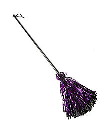 Kids Purple and Black Broom