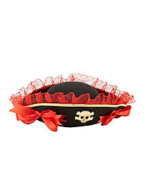 Red Lace Pirate Hat