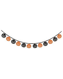 Black and Orange Pumpkin Garland - Decorations