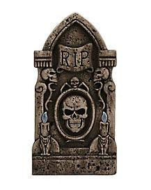 Light Up Skull Tombstone - Decorations
