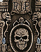 Light Up Skull Tombstone - Decorations