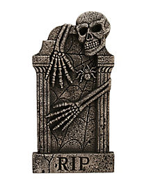 3 Ft Skeleton Hug Tombstone - Decorations