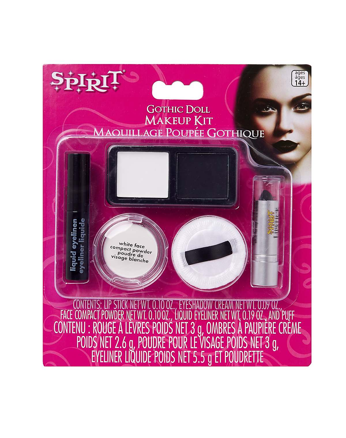 Gothic doll makeup character kit
