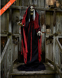 7 ft rising reaper animatronics decorations