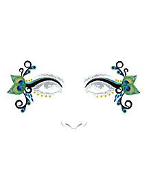Peacock Face Decal