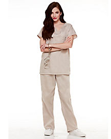 Adult Tan Prisoner Costume - Orange is the New Black