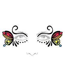 Rainbow Butterfly Face Decal