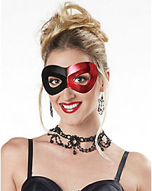 Red and Black Eyemask
