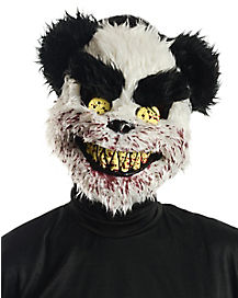 Faux Fur Deadly Panda Mask