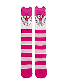 Cheshire Cat 3D Knee High Socks - Alice in Wonderland