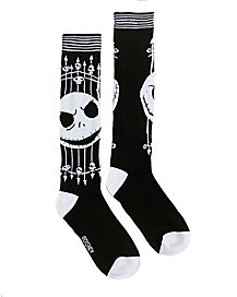 Jack Skellington Graveyard Knee High Socks - The Nightmare Before Christmas