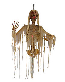 4 Ft Light Up Shredded Skeleton - Decorations
