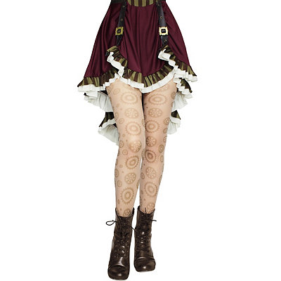 Steampunk Skirts | Bustle Skirts, Lace Skirts, Ruffle Skirts Steampunk Gear Tights $9.99 AT vintagedancer.com