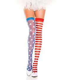 Adult Americana Thigh High Socks