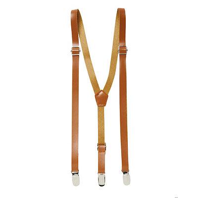 Men's Vintage Style Suspenders Brown Steampunk Suspenders $9.99 AT vintagedancer.com