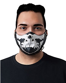 Biker Skeleton Mouth Mask