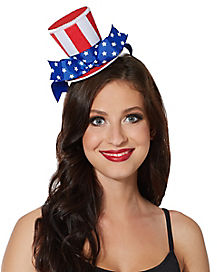 America Mini Top Hat Fascinator